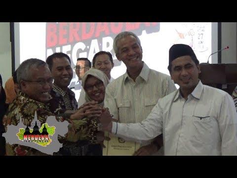 SAH! KPU TETAPKAN GANJAR - YASIN PEMENANG PILGUB 2018