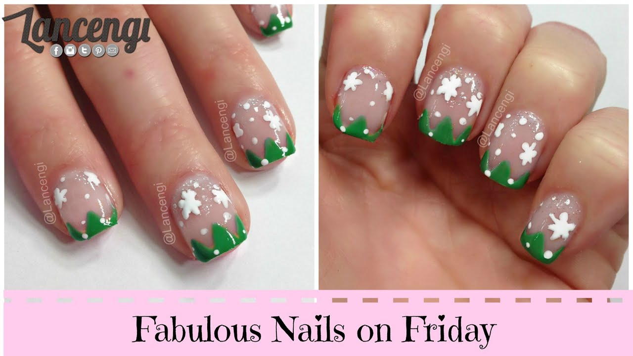 Diy Cute Easy Nail Art Designs 7 Christmas Tress Youtube