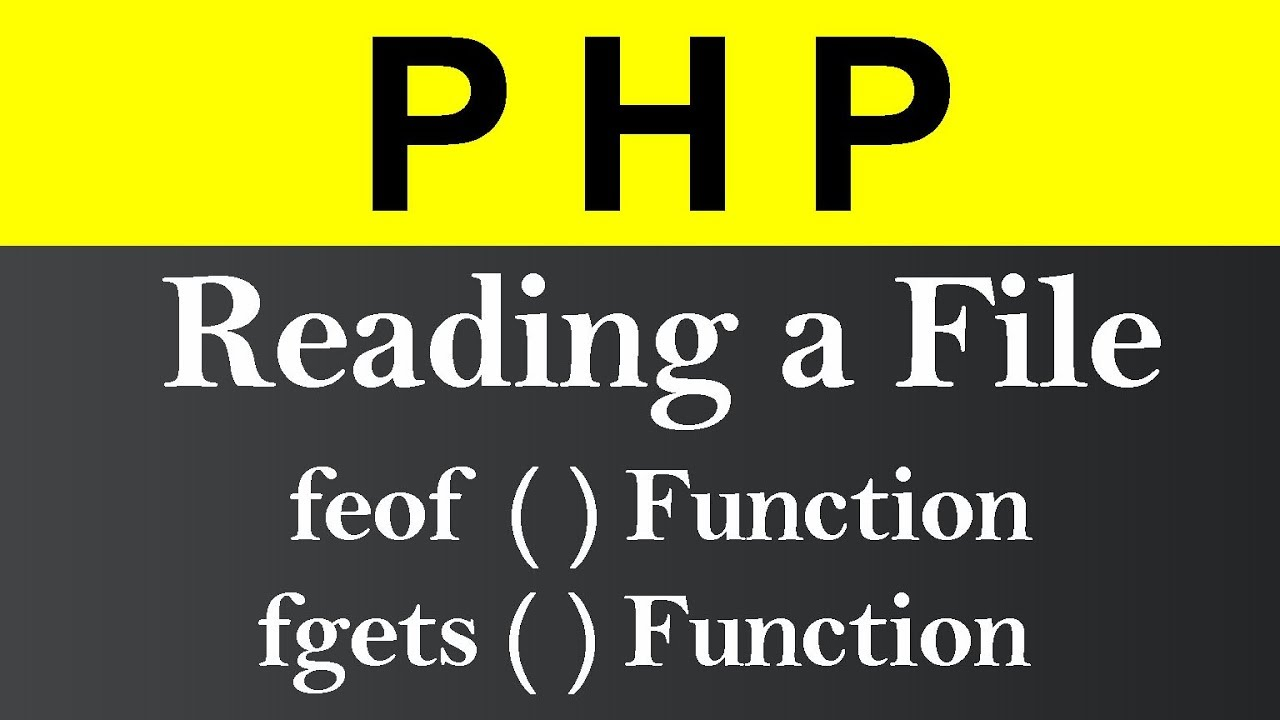 Reading a File in PHP (Hindi)