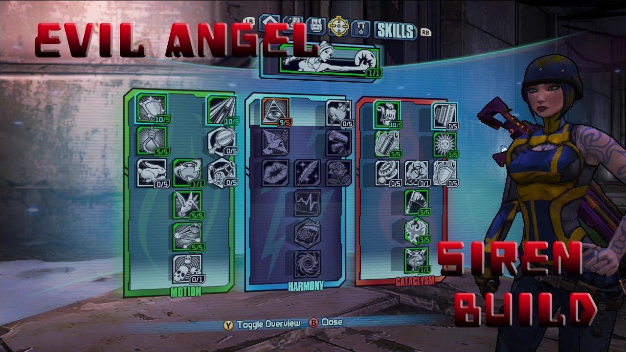 Borderlands 2 Level 61 Siren Build- Evil Angel