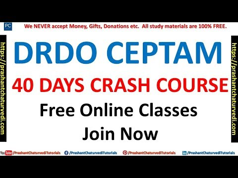 DRDO CEPTAM VIDEO CLASSES | 40 DAYS FREE ONLINE CLASSES | {JOIN NOW}