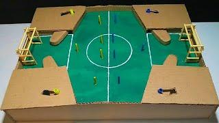como fazer um jogo de futebol em casa