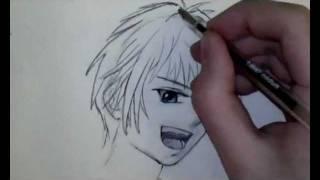 Comment dessiner un visage Manga de garçon [Tutoriel]