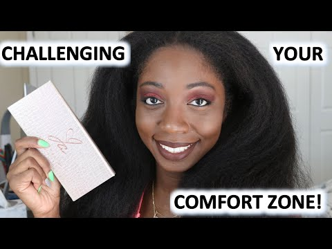 CHALLENGING MY COMFORT ZONE ft. Jackie Aina X ABH Palette   DON'T LAUGH Y'ALL!!!! thumbnail