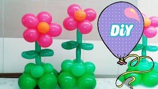 Centro de Mesa Flor de Balão - Tutorial Decoração de Balões / Bexigas