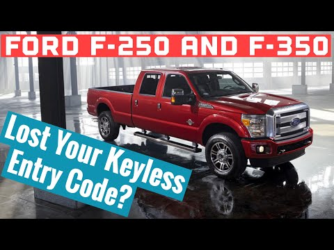 Ford F250, F350, F450 Keyless Entry Code Location - How To Find Your SecuriCode