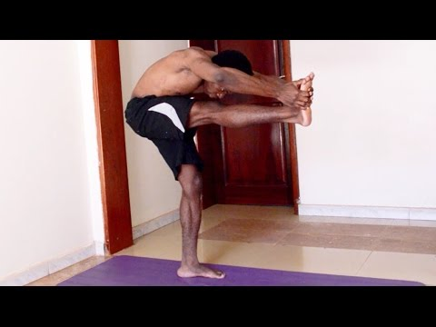 yoga 9 tips standing head to knee half moon bend toe stand