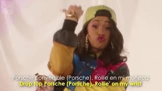 Bruno Mars (Finesse Remix) Cardi B en español y en letra