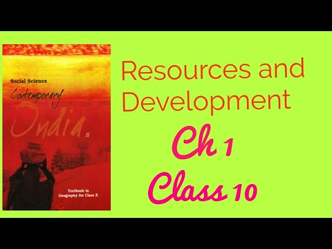 Resources and development|Class 10|Chapter 1 in hindi|Geography Chapter 1|