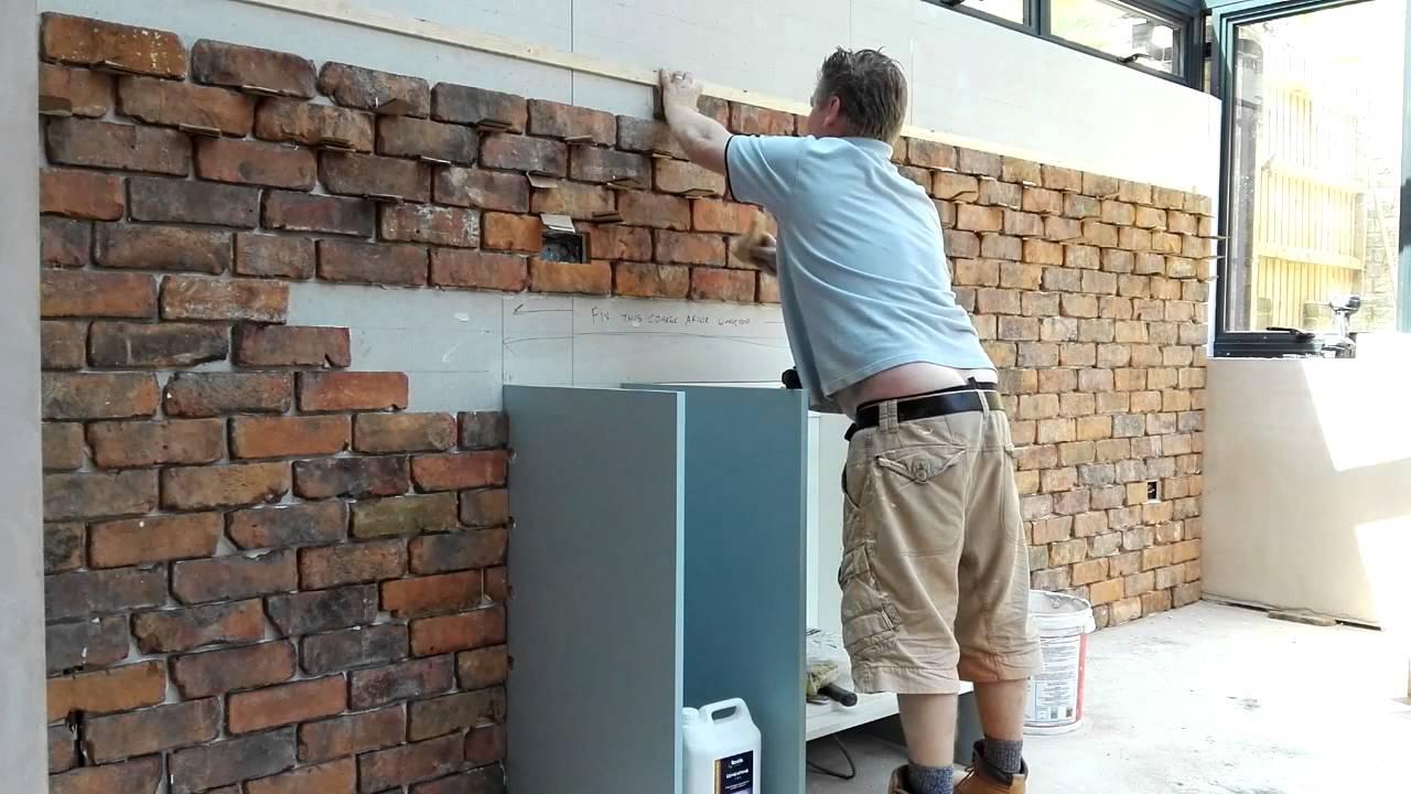 Reclaimed Brick Tile Installation Youtube