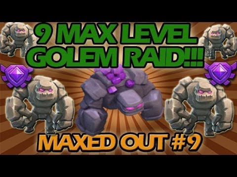 Crazy Maxed Out All Golem Raid!! Clash Of Clans Maxed Out #9