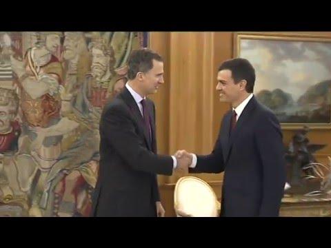 Audiencia de S.M. el  Rey recibe al secretario general del PSOE, Pedro Sánchez