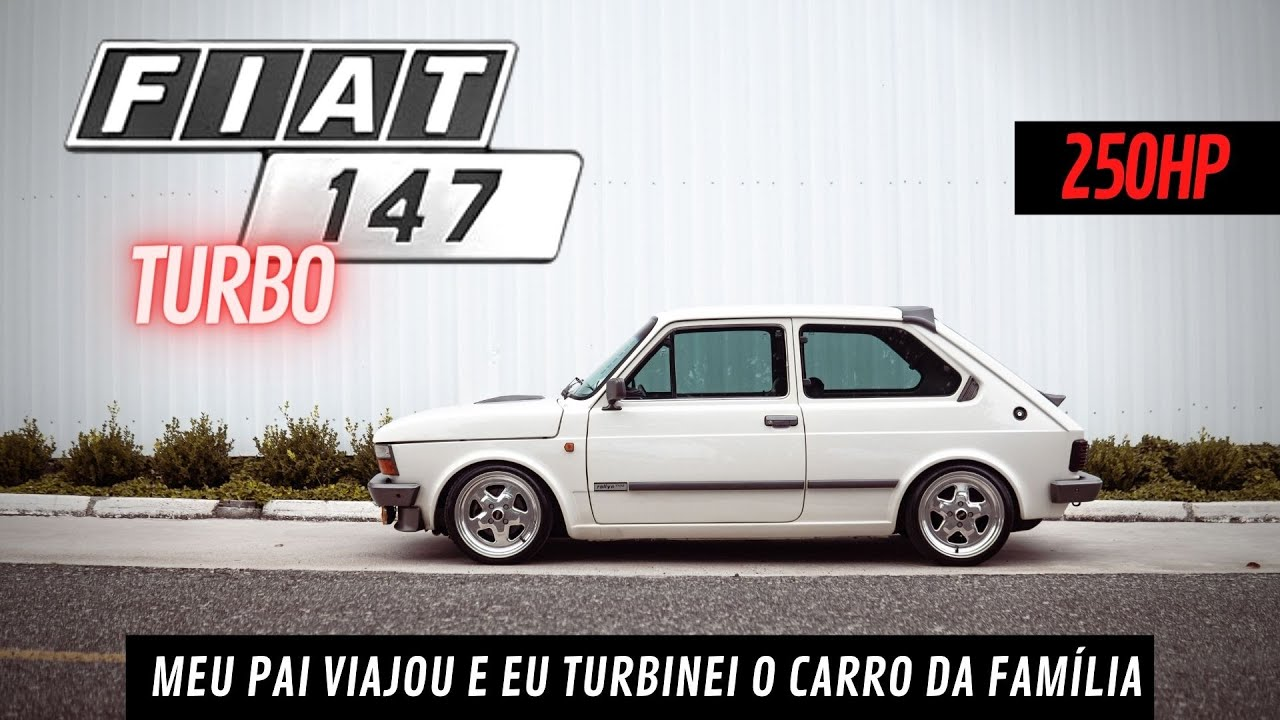 FIAT 147 TURBO DE RUA - Turbinei o carro da família