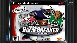 [PS2] NCAA Gamebreaker 2004 - National Championship! Georgia vs. Marshall