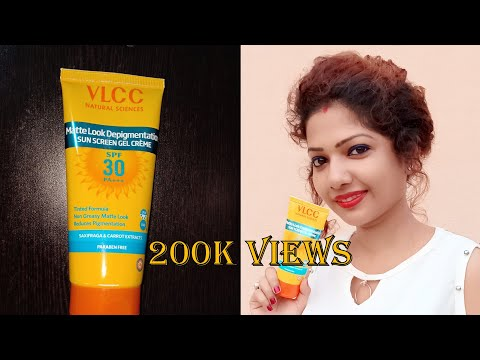 VlCC Matte Look Depigmentation Sun Screen Gel Cream SPF 30 PA+++ Review