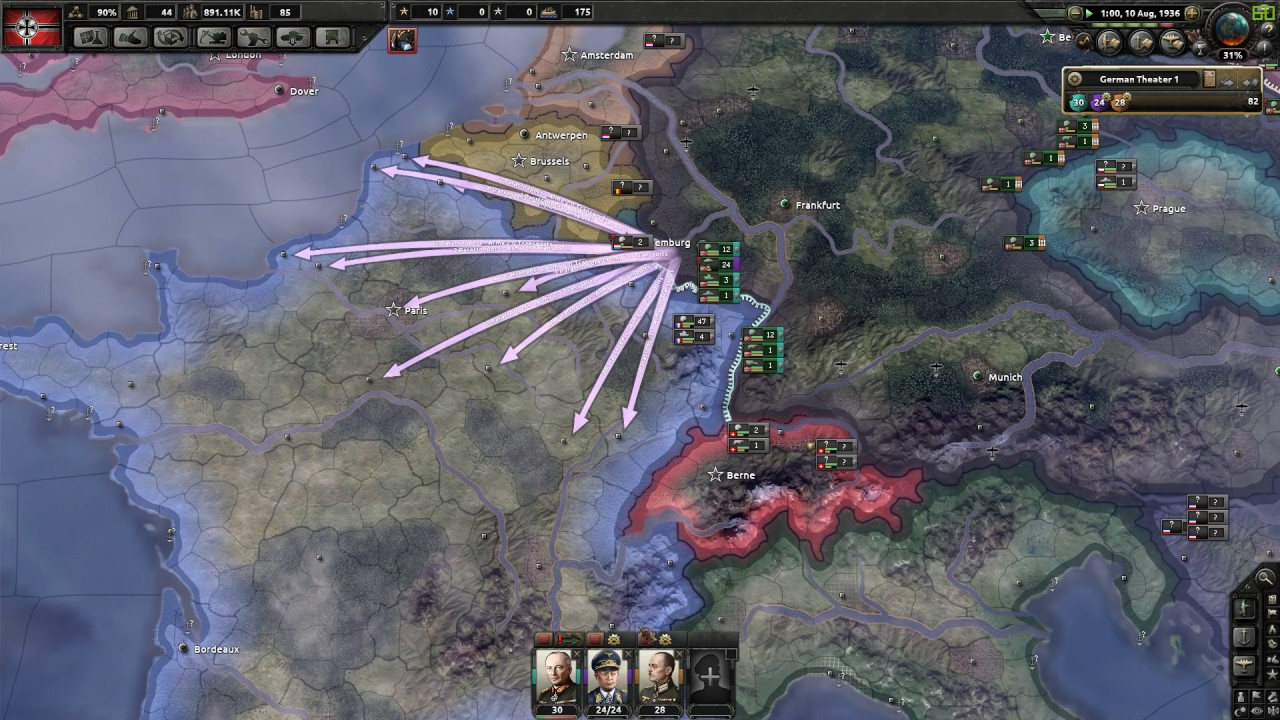 Hearts of Iron IV - Extreme fast German Start 1511 ...