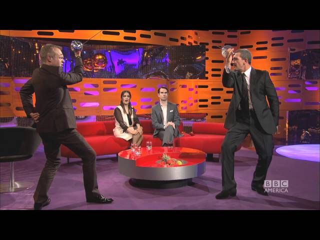 ANTONIO BANDERAS & SALMA HAYEK\: Sword-Fighting with Graham (The Graham Norton Show)