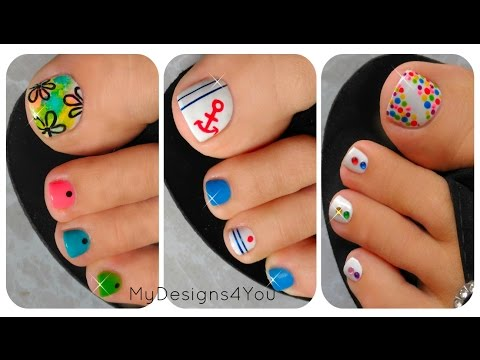 3 Easy Summer Toenail Nail Designs