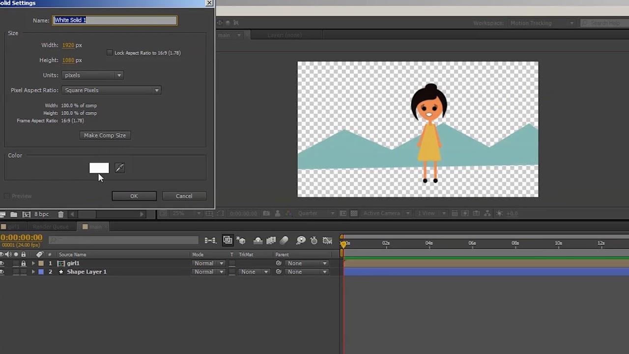 Сентября, анимация картинки в афтер эффекте