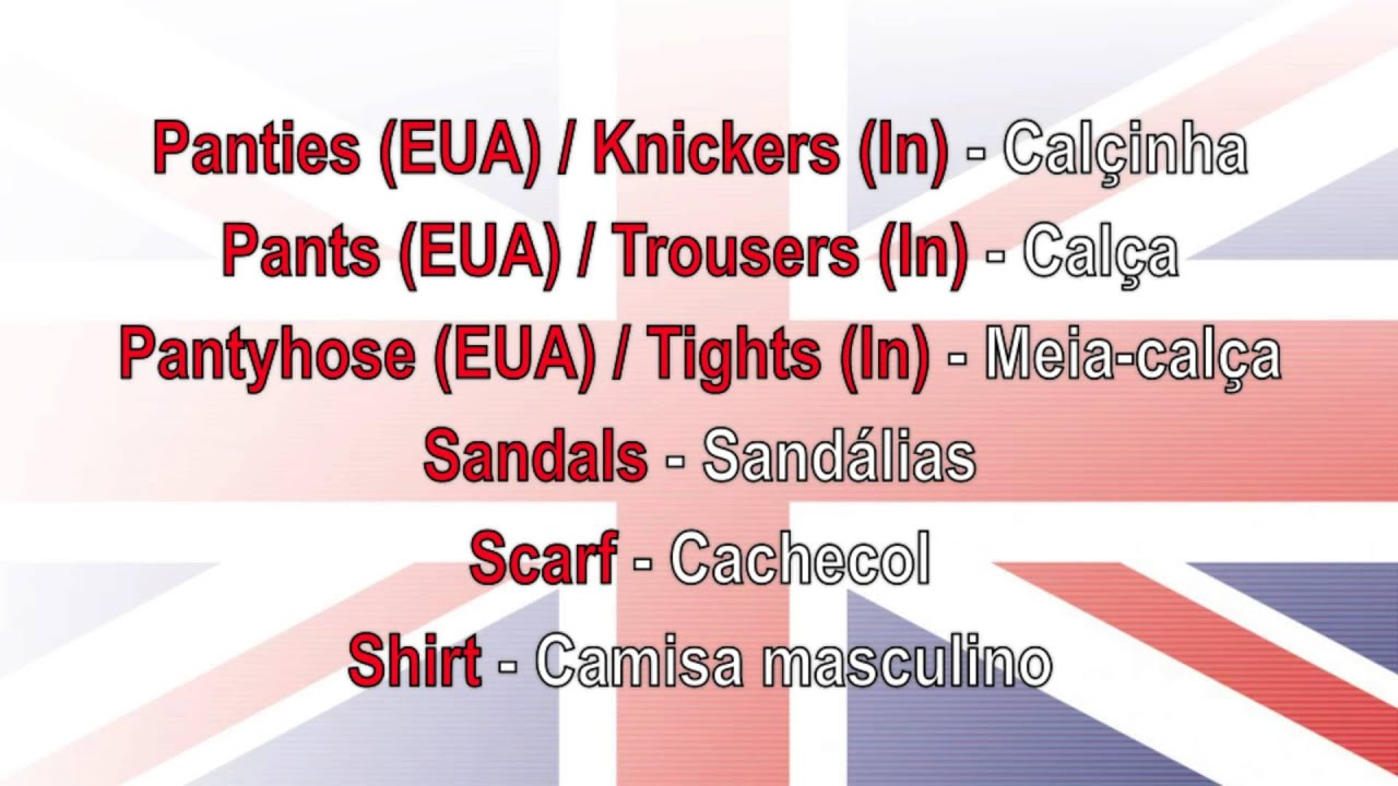 Aula de Inglês Aprender vocabulário de roupas com tradução Português  YouTube -> Banheiro Feminino Em Ingles Traducao