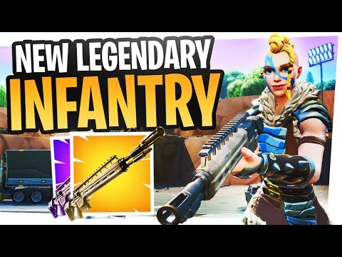 FIRST LOOK at the NEW LEGENDARY INFANTRY RIFLE - Fortnite New Gun