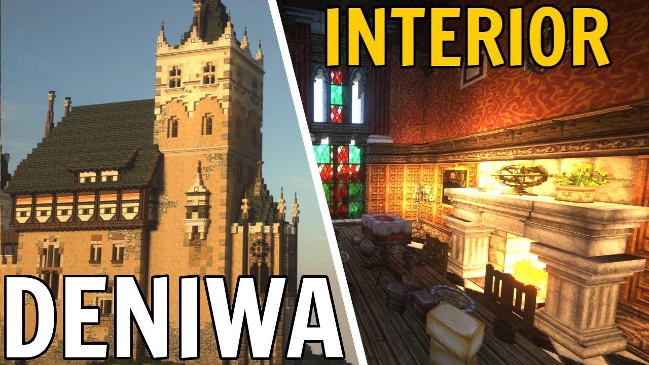 Minecraft Showcase - Deniwa Castle's Interiors and Details
