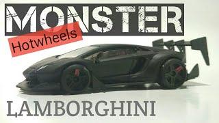 🔴🆕 CUSTOM LAMBORGHINI AVENTADOR HOTWHEELS build my own monster