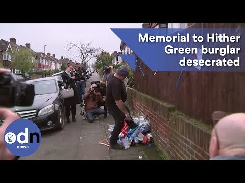 'It's an insult': Memorial to Hither Green burglar desecrated