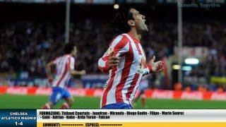 CHELSEA - ATLETICO MADRID 1-4 - SUPERCOPPA EUROPEA - 31-8-2012 - SCHEDA TECNICA