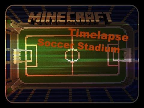Minecraft Timelapse soccer stadium