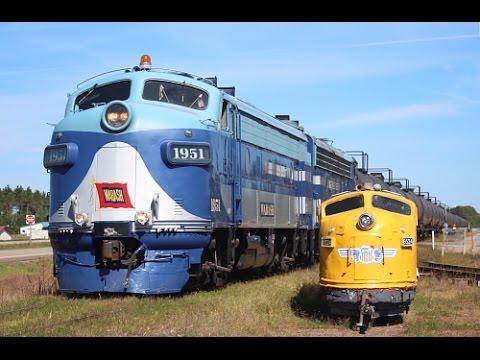 Storage Units For Cars >> Wisconsin Great Northern: Unit Storage Train w/Wabash F-Units - YouTube