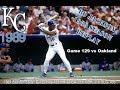 Bo Knows Baseball --Season Replay of 1989 Kansas City Royals Game129 vs Oakland --Live Stream