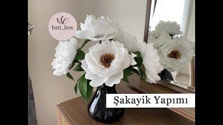 Krapon Kağıdından Şakayik çiçek yapımı Peonis/Peony From Crepe Paper Flowers