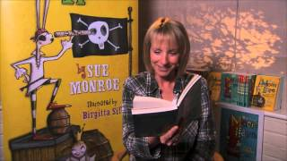 Sue Monroe reading 'The Magnificent Moon Hare'.