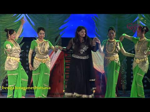 """""""Nanda nanda naanena sri krishna"""" song by Anuradha Bhat @ 53rd Bengaluru Ganesh Utsava..!!!"""