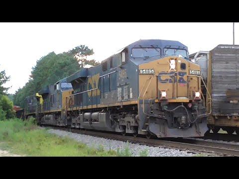 [3E] Explosive CSX Train and a Q616's Knuckle Breaks Again, Hull - Dacula GA, 07/24/2016 ©mbmars01