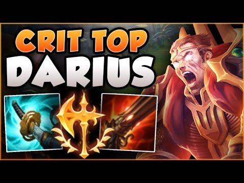 DARIUS TOP + ADC CRIT BUILD = ULTIMATE 1v9 DARIUS BUILD! DARIUS TOP  GAMEPLAY! - League of Legends