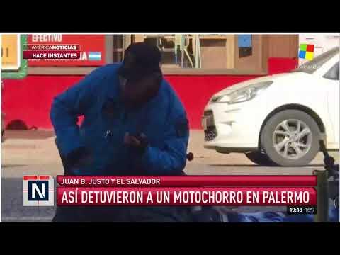 Así detuvieron a un presunto motochorro en Palermo