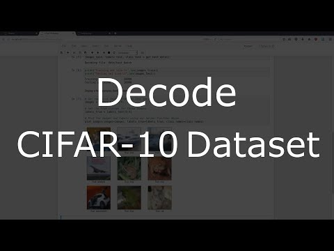 Deep Learning with Keras - Introduction and Decoding CIFAR-10 (1/3)