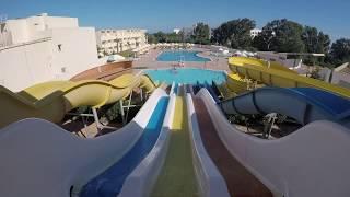 Снял на GoPro спуск с водной горки.Аквапарк в отеле Омар Хаям в Тунисе.Скатился с экшен камерой.