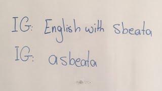 مارس المحادثة معي شخصيا على انستا: english with sbeata