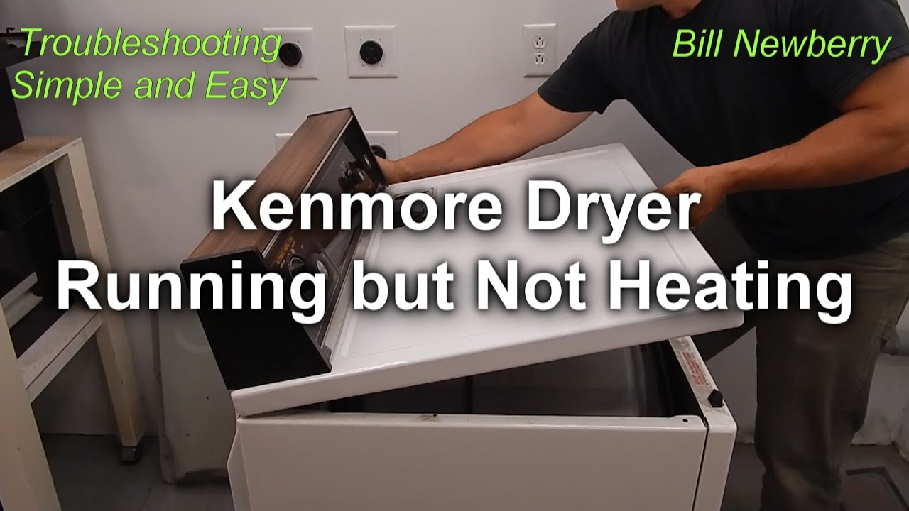 Kenmore Dryer Not Heating But Still Runs How To Fix Youtube Model 110 On 70 Series Gas Parts Diagram