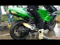 SUPERBIKE NINJA ZX 14R EXHAUST SOUND AND FLAMES |BROCKS|