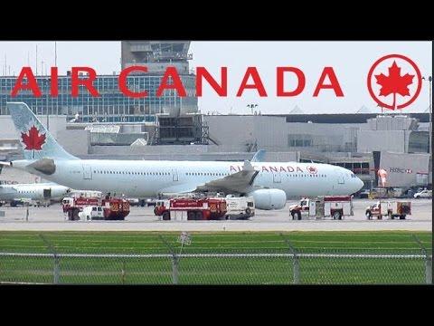 *Emergency landing* Air Canada A330-343X (A333) landing at YUL