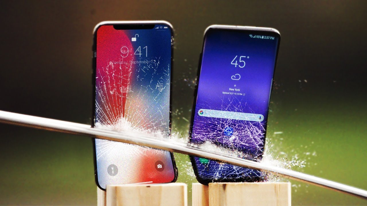 iphone x vs galaxy s8 katana scratch test youtube. Black Bedroom Furniture Sets. Home Design Ideas