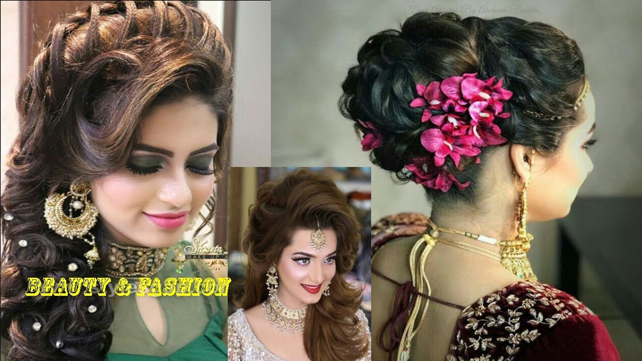 Latest Asian Party Wedding Hairstyles 2018 Beauty Fashion Youtube