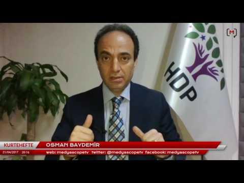 Osman Baydemir: Gelê Kurd di referandûmê de bi fedekarîyekî mezin  xwedî ked û hebûna xwe derket