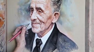 Pastel portrait, Portrait painting, Old man portrait