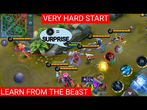 MIYA UNBELIEVABLE PLAY | VERY HARD START FOR MM | NEVER SURRENDER | MOBILE LEGENDS