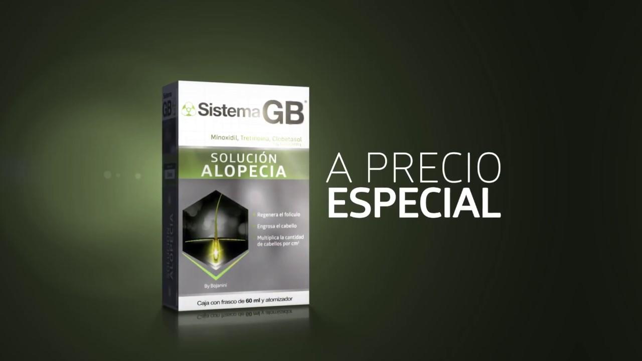 Solucion alopecia gb aplicacion